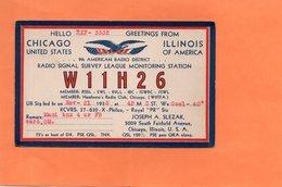 CARTE QSL. AMERICAN RADIO. CHICAGO   Achat Immédiat - Radio