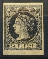 CUBA 1862 1/4 Black MH - Kuba