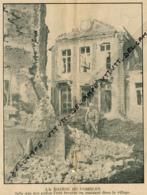 Photo (1916), Guerre 14-18 : COMBLES (Somme), La Mairie Telle Que Nos Poilus L'on Trouvée En Rentrant Dans Le Village... - Vieux Papiers
