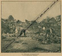 Photo (1916), Guerre 14-18 : HERBECOURT (Somme), Le Village Et Ses Habitations Délabrées - Alte Papiere