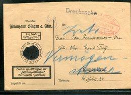 """All.Besetzung / 1946 / Brief (int. Weiterverw. DR-Umschlag) Oval-Stempel Singen """"GEBUEHR BEZAHLT"""" (17145) - Zona AAS"""