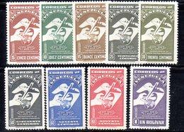 CI1117 - VENEZUELA 1950, Posta Aerea Serie Yvert N. 278/286  Linguellata  * - Venezuela