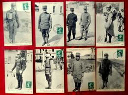 LOT 8 CPA MILITARIA GUERRE EQUIPEMENT DE L'ARMEE - UNIFORME Réséda Des SOLDATS D' INFANTERIE, CLAIRON, FOURRIER Etc. - Uniformes