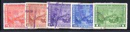 CI1097 - VENEZUELA 1950, Posta Aerea Serie Yvert N. 305/309 Usata - Venezuela