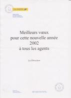 Lettre Courrier Bonne Année Oblitération 2001 TàD Manuel PARIS CCBE V - Société EMISSAIRES Rue D'Aboukir - Marcofilia (sobres)
