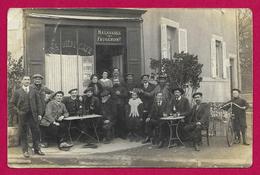Carte Photo Clermont Ferrand - Rue Bonnabaud - Devanture De La Maison Malabarge Et Faugeron - Clermont Ferrand