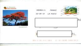 Pap Reunion Flamme Chiffree Sous Code Roc Illustré Flamboyant - Prêts-à-poster:  Autres (1995-...)