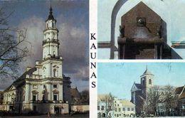 1 AK Litauen * Ansichten Der Stadt Kaunas - Rathaus, Springbrunnen, Kathedrale  Kaunas Ist D. Zweitgrößte Stadt Litauens - Litauen