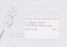 Lettre 1994 Oblitération TàD PARIS CATMI Machine à Oblitérer SECAP HM Aménagée PORT PAYE FRANCE Flamme ECONOMIQUE - Marcofilie (Brieven)