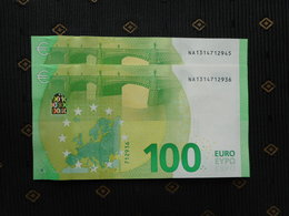 """100 EURO /2019 """" NA"""" N004 C1... Austria, DRAGHI,  UNC, NEUF, FDS - EURO"""