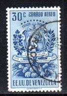 CI1085 - VENEZUELA 1951, Posta Aerea Yvert N. 346B  Usato. Tachira - Venezuela