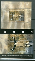 Canada British Columbia Wildlife Conservation BCC7 Birds Bird Fauna Goose Painting Lane MNH Cpl Bklt 2001 A04s - Canada