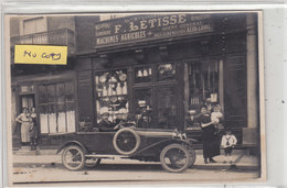 BEUZEVILLE : Devanture F.LETISSE  Machines Agicoles (1) - Superbe Carte Photo - Commerce - Francia