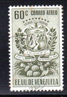 CI1089 - VENEZUELA 1951, Posta Aerea Yvert N. 347  Usato. Tachira - Venezuela