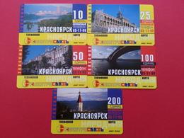 KRASNOYARSK Serie 5 CARDS 10+25+50+100+200u VIEW URMET MINT NEUVE RUSSIE URSS (BI1216 KRASNOJARSK - Russie