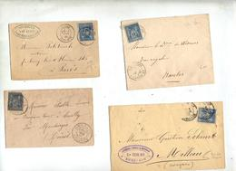 Lot 8 Lettre Cachet Sur Sage à Voir - 1877-1920: Semi Modern Period