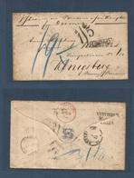 "CHILE. 1873 (17 Sept) British PO Valparaiso - Prussia, Konigsberg (1 Nov) Via London (29 Oct) Unpaid Envelope Reverse ""V - Chile"