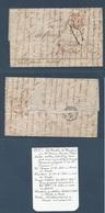 DUTCH WEST INDIES. 1851 (20 July) FRANCE - NETHERLANDS - CARIBBE. St. Martin Island, Dutch West Indies - France, Moulins - Niederländisch-Indien