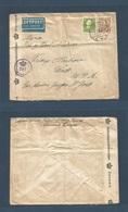 DENMARK. 1945 (2 July) Sorvad - USA, Wash, Friday Habor Air 1kr15c Rate Fkd Env + Censor. Via NY. Fine. - Non Classés