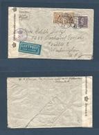 DENMARK. 1945 (29 July) Kopenhagen - USA, Wash. Air Via NY. Multifkd Censored Envelope. 2kr 10c Rate. Fine. - Non Classés