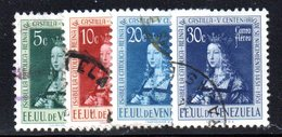 CI1119 - VENEZUELA 1951, Posta Aerea Yvert N. 358/361  Usata  Isabella - Venezuela
