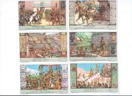 Les INCAS PEROU PERÙ X 6 Chromos Série Complète Didactique 110 X70 Mm TB 2 Scans LIEBIG - Liebig