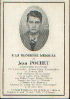Souvenir Mortuaire POCHET Jean (1924-1945) Né à ESCHWEILER (Armée Belge D'occupation) Mort Au Camp De CELLE ---> - 1939-45