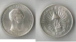 THAILANDE 10 BAHT 1971   ARGENT - Thaïlande