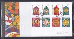 Singapore 2006 Festivals, Chinese New Year, Deepavali, Christmas, Hari Raya Aidilfitri FDC - Singapore (1959-...)