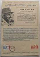 2611 Maréchal De Lattre  Document Officiel De La Poste - Documenten Van De Post
