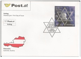 Austria Österreich 2010 - Simon Wiesenthal - Joint Issue Israel – Austria FDC - First Day Cover - 2001-10 Nuovi & Linguelle