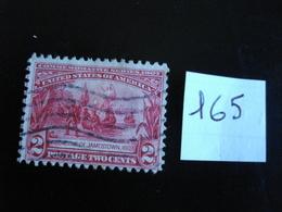 USA - Année 1907 - Fondation De Jamestown 2c Rouge Carminé - Y.T. 165 - Oblit. - Used - Gestempeld - United States