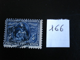 USA - Année 1907 - Pocahontas 5c Bleu - Y.T. 166 - Oblit. - Used - Gestempeld - United States