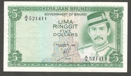 Brunei Darussalam 5 Ringgit Dollar 1983 VF Crisp - Brunei