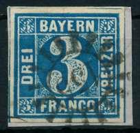 BAYERN QUADRATE Nr 2II GMR 155 Zentrisch Gestempelt Briefstück X87E0D2 - Bayern