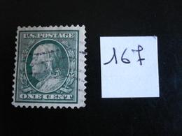 USA - Années 1908-09 - Franklin  1c Vert - Y.T. 167 - Oblit. - Used - Gestempeld - United States