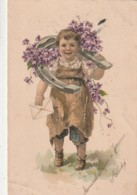 ***   Illustrateur Enfant Maréchal Ferrant - Messager  - PLI Et Un Peu Sale  Précurseur Timbré - Artisanat