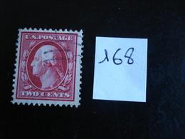 USA - Années 1908-09 - G. Washington 2c Carmin - Y.T. 168 - Oblit. - Used - Gestempeld - United States