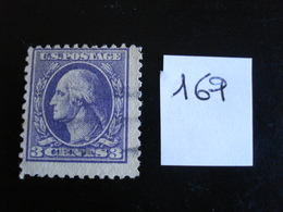 USA - Années 1908-09 - G. Washington 3c Violet - Y.T. 169 - Oblit. - Used - Gestempeld - United States