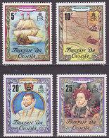 Série De 4 TP Neufs ** N° 277/280(Yvert) Tristan Da Cunha 1980 - Marine, Sir Francis Drake - Tristan Da Cunha