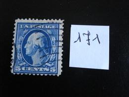 USA - Années 1908-09 - G. Washington 5c Bleu - Y.T. 171 - Oblit. - Used - Gestempeld - United States