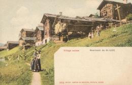 R017518 Village Suisse. Souvenir De St. Luc. Phototypie - Ansichtskarten