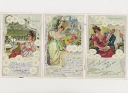 6 Cartes Fantaisies S.32 .L'amour Secrète  / Effeuillage De La Marguerite - Autres