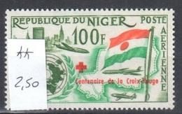 Very Fine Mnh ** Niger 2,50 Euros Red Cross - Niger (1960-...)