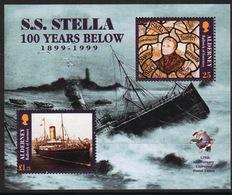 Alderney Mini Sheet To Celebrate The Centenary Of The Wreck Of Stella. - Alderney