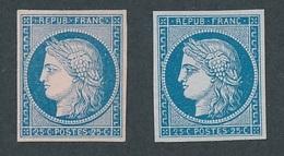 """N-457: FRANCE: Lot Avec """"CERES"""" N °4 NSG ESSAIS - 1849-1850 Ceres"""