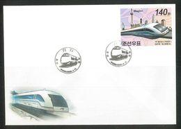 NORTH KOREA 2006 HIGH-SPEED TRAIN FDC IMPERFORATED - Treinen