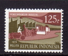 INDONESIA 1979 FIVE YEAR PLAN FACTORIES AND TRUCKS 125r MNH - Indonesia