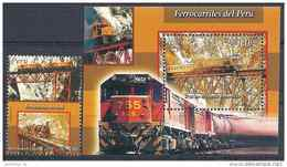 2004 PEROU 1439+ BF 26** Trains - Peru