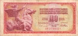 100 Dinar Banknote Jugoslawien 1978 VF/F (III) - Jugoslawien
